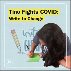 Tino fights COVID-19: Ananya and Niyati from Write To Change