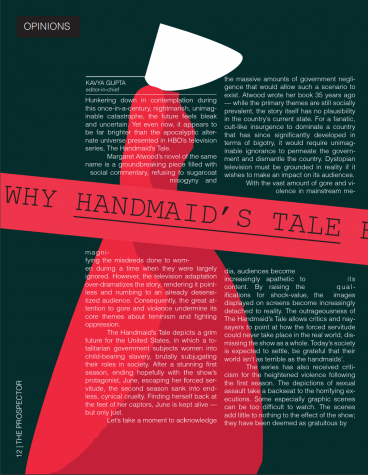 Why The Handmaid