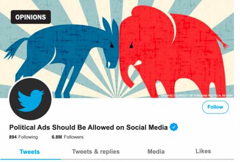 Political Advertisements Should be allowed on Social Media