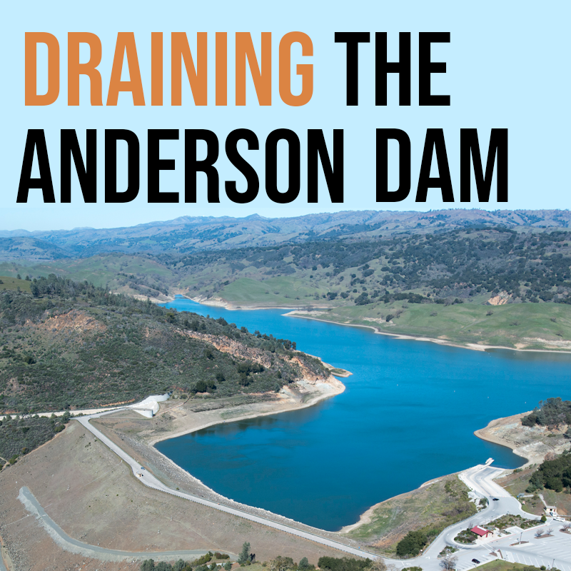 Draining the Anderson Dam